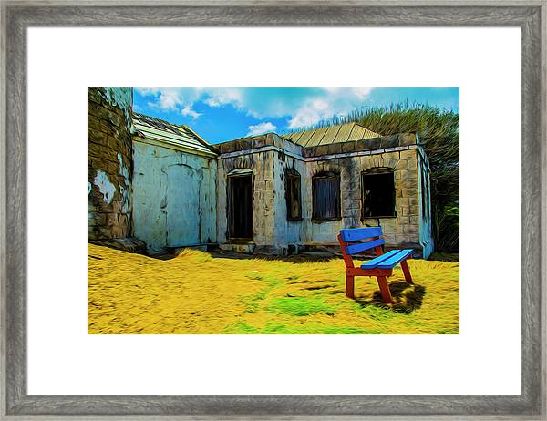 Blue Bench Framed Print