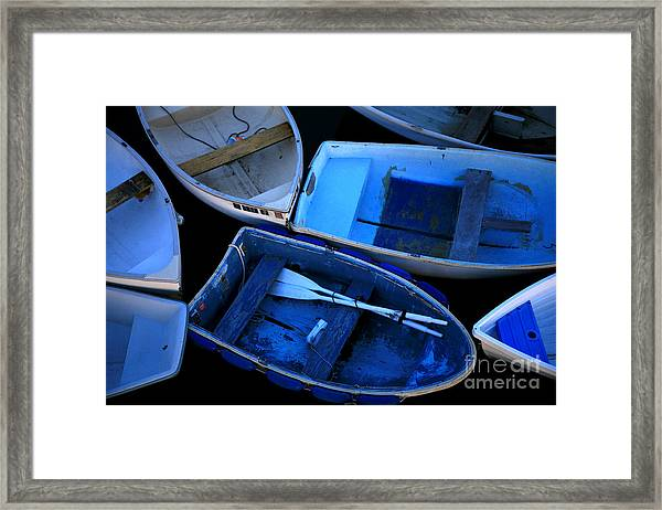 Blue Boats Framed Print