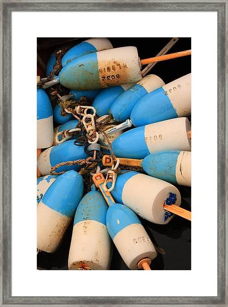 Blue Bouys Framed Print