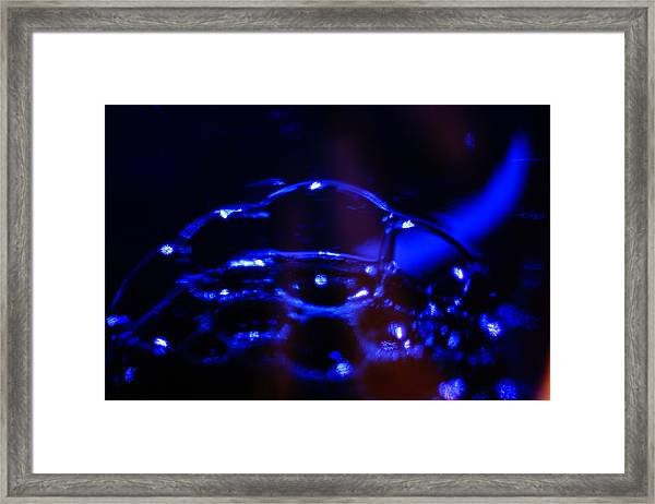 Blue Bubbles Framed Print