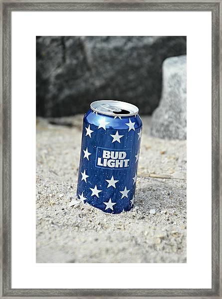 Blue Bud Light Framed Print