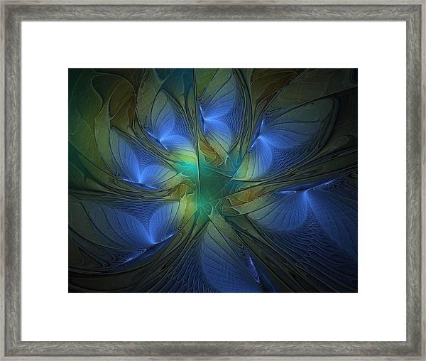 Blue Butterflies Framed Print