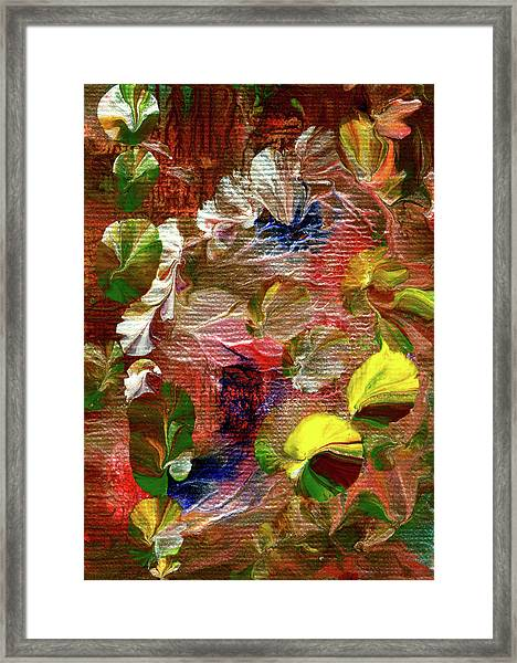 Blue Butterfly Jungle Framed Print