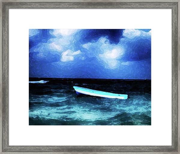 Blue Cancun Framed Print