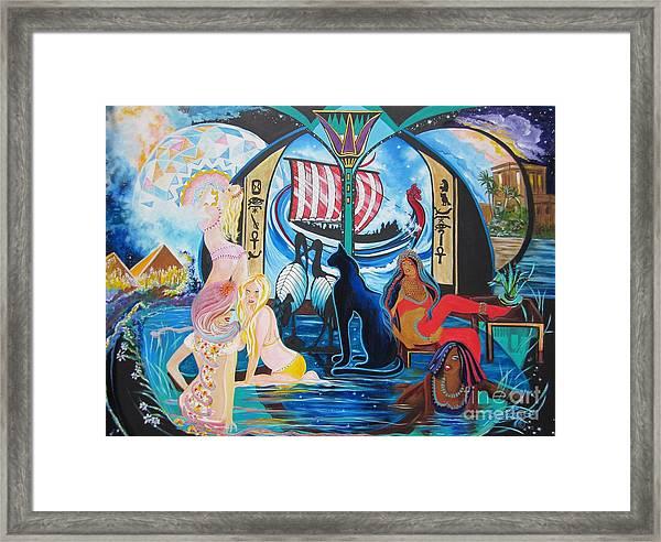 Five Celestial Celebrations                                        Blaa Kattproduksjoner  -  Framed Print