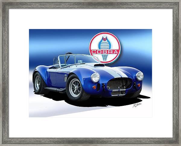 Blue Cobra Framed Print