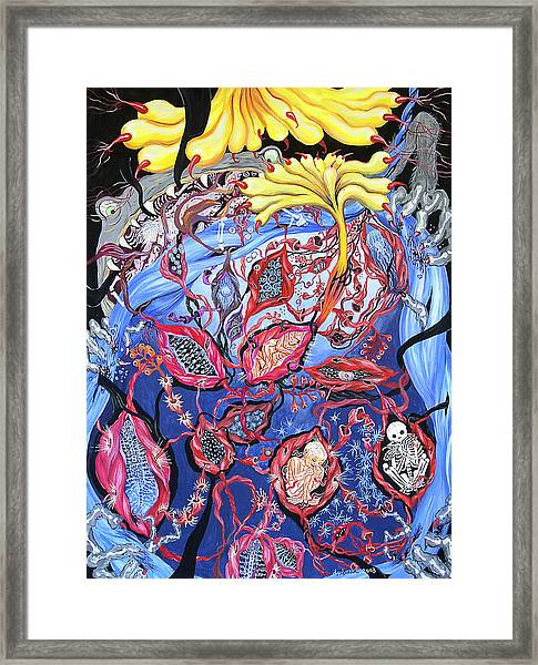 Blue Cocoon Framed Print