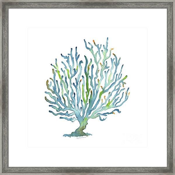 Blue Coral Framed Print
