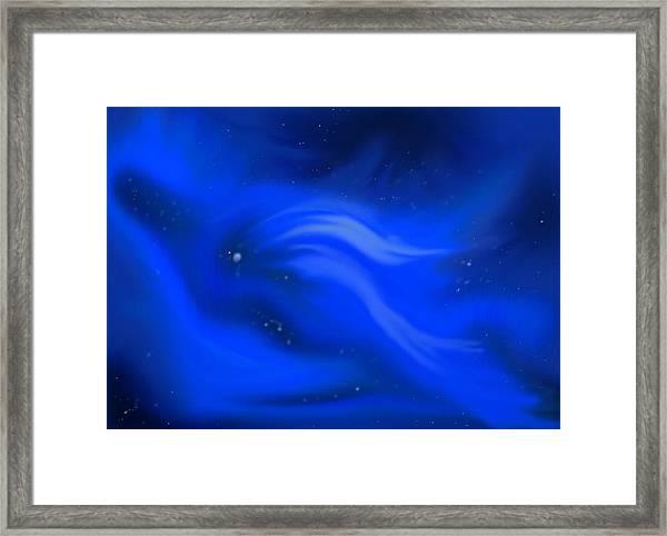 Blue Cosmos Framed Print