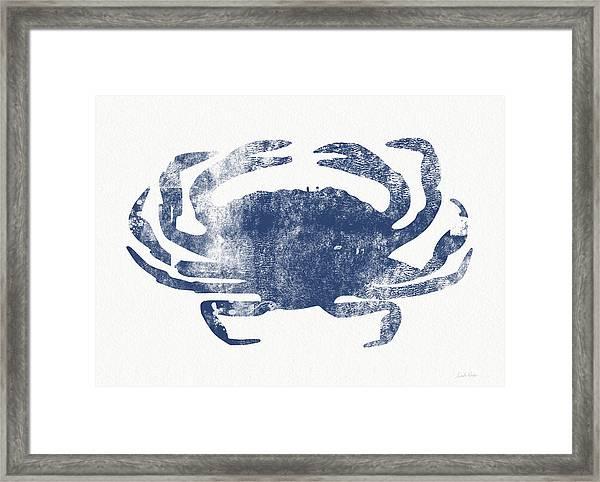 Blue Crab- Art By Linda Woods Framed Print