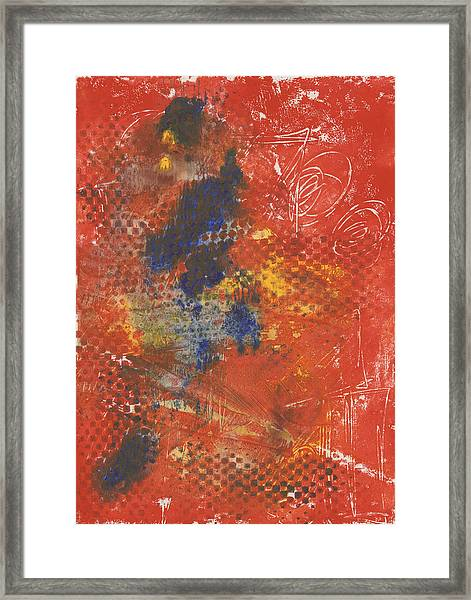 Blue Dancer Framed Print