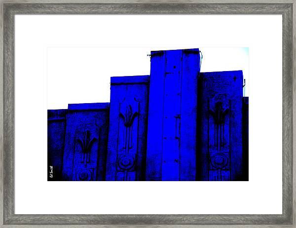Blue Deco Framed Print