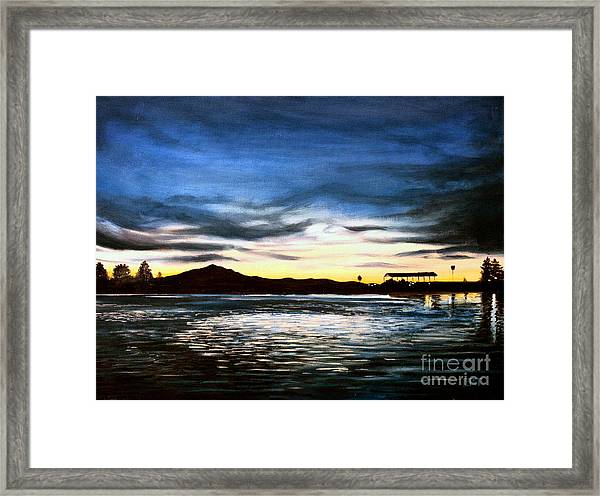 Blue Diablo Framed Print