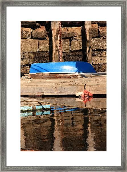 Blue Dingy Framed Print