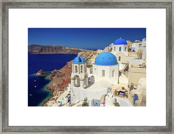 Blue Domed Churches Framed Print
