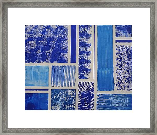 Blue Expo Framed Print