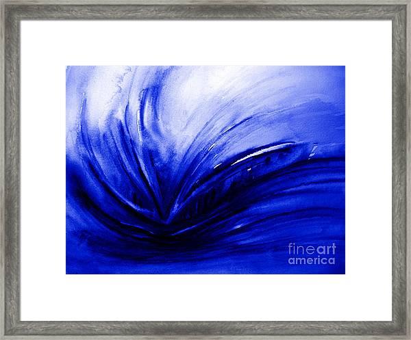 Blue Expression Framed Print by Allison Ashton