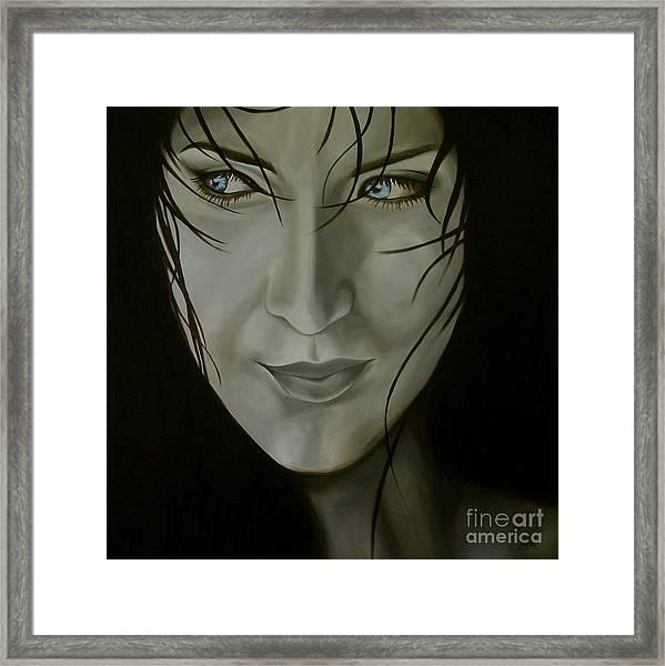 Blue-eyed Girl Framed Print