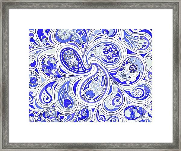 Blue Fantastic Framed Print