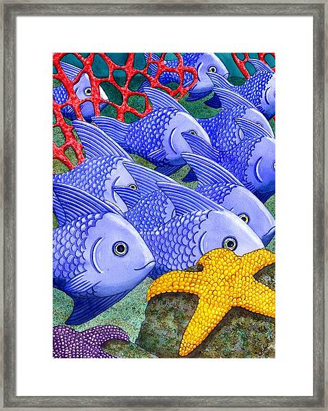 Blue Fish Framed Print