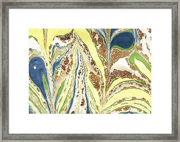 Blue Flowers In Spring Framed Print