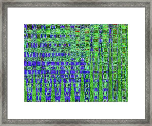 Blue For Green Framed Print