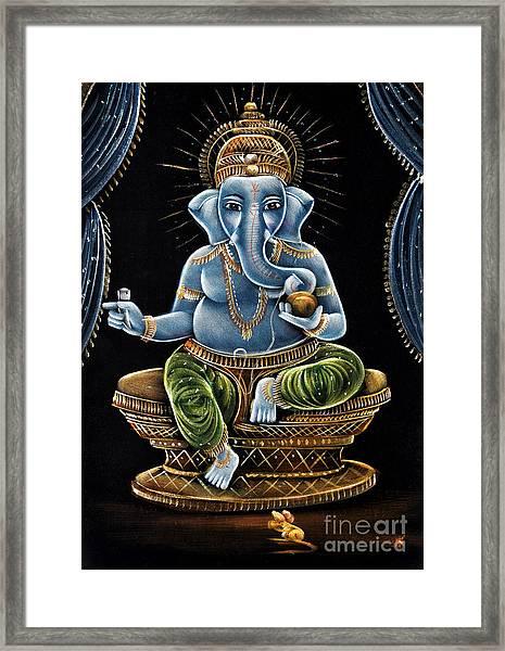 Shri Ganesha Framed Print