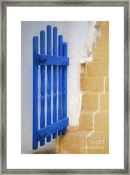 Blue Gate Framed Print by HD Connelly