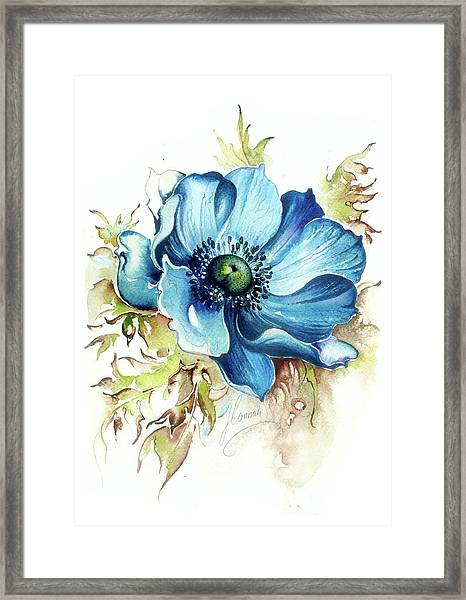 Blue Gem Framed Print