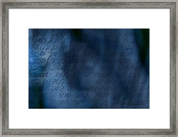 Blue Glimpse Framed Print
