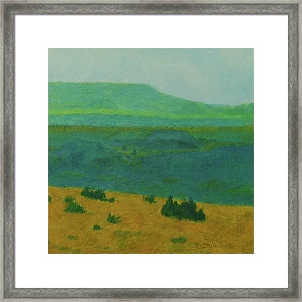 Blue-green Dakota Dream, 2 Framed Print