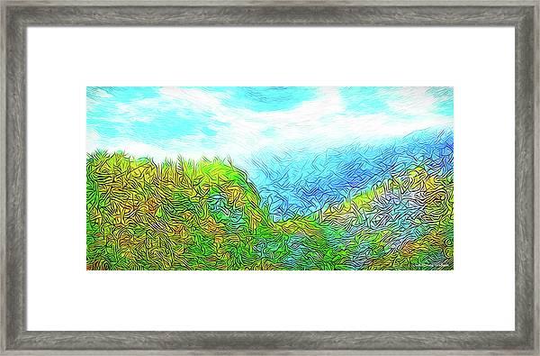 Blue Green Mountain Vista - Colorado Front Range View Framed Print