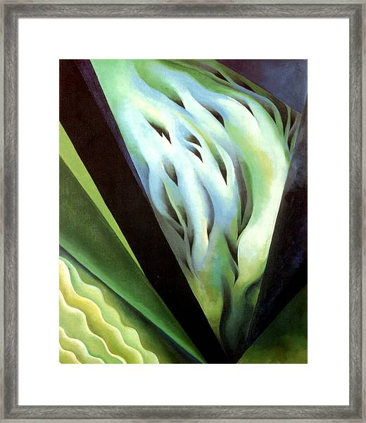 Blue Green Music Framed Print