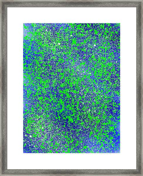 Blue Green Splatter Framed Print