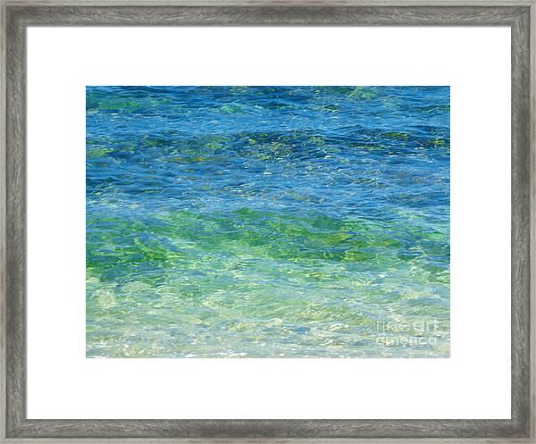 Blue Green Waves Framed Print