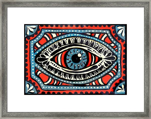 Blue Gypsi Eye Framed Print