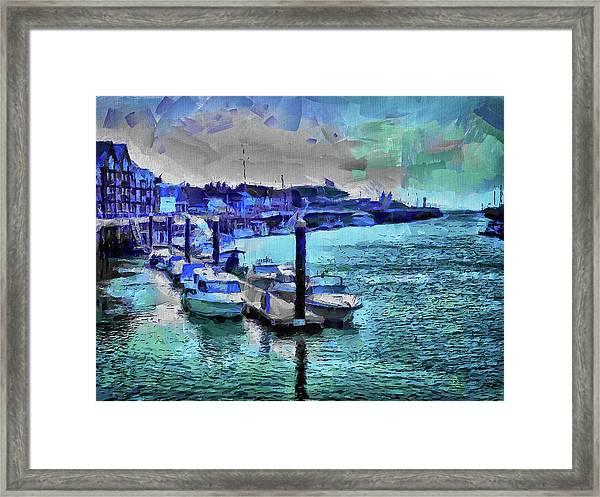Blue Harbour Framed Print