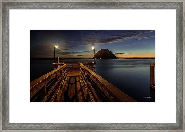 Blue Hour At Morro Bay Framed Print