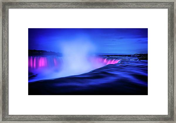 Framed Print featuring the photograph Blue Hour At Niagara Falls by Kevin McClish