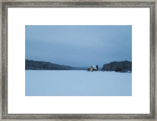 Blue Hour At The Old Stone Church Framed Print