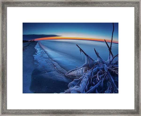 Blue Hour Fisheye Framed Print