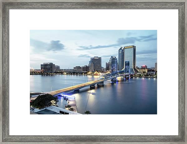 Blue Hour In Jacksonville Framed Print