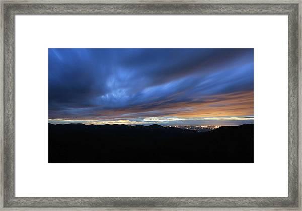 Blue Hour In Shenandoah Framed Print