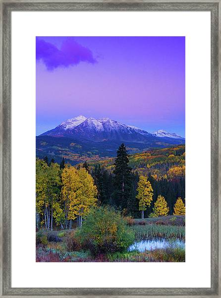 Blue Hour Over East Beckwith Framed Print