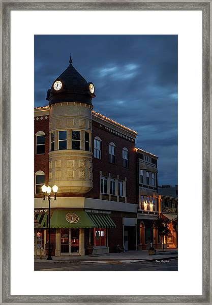Blue Hour Over The Clock Tower Framed Print