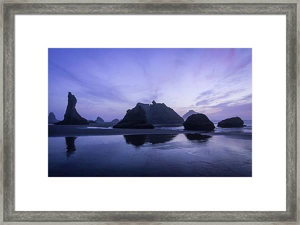 Blue Hour Reflections Framed Print