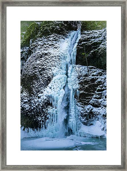 Blue Ice And Water Framed Print