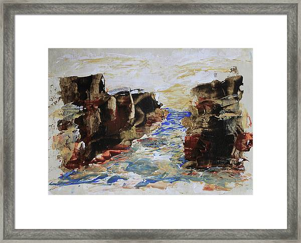 Blue Inlet Abstract Framed Print