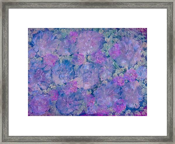 Blue Iridescent Framed Print