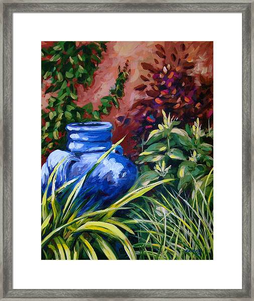 Blue Jug Framed Print